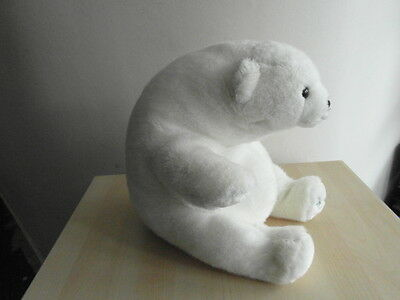 "Harrods 1989 Foot Dated 13"" Annual White Christmas Teddy Polar Bear VGC"
