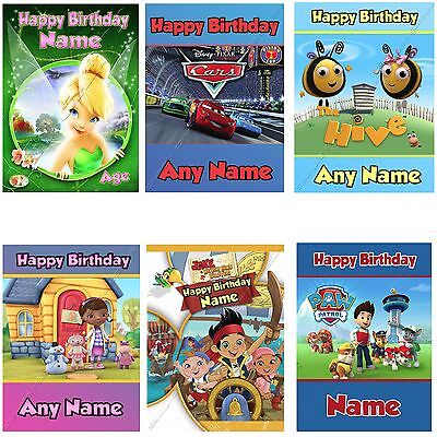 Any Name/age Personalised Selection Of Birthday Cards For Children Boy Girl Fun