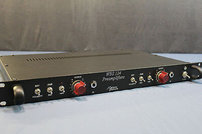 Gruning Audioworks racked pair of Ward Beck 124 preamp cards. Amazing sound!