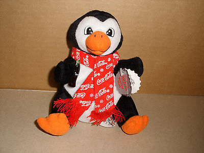 Coca Cola Plush Bean Bag Penguin Collectible 7 In With Tags