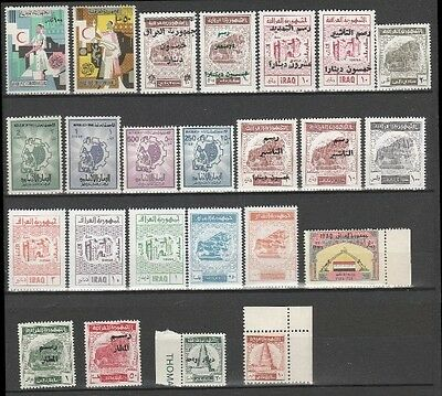 IRAQ , Revenue Stamps 24 different Stamps all  MNH