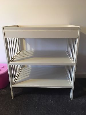 Ikea White Baby Changing Storage Table RRP £65