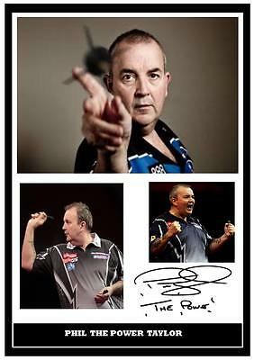 113.  Phil Taylor Darts  Signed  Photograph ......
