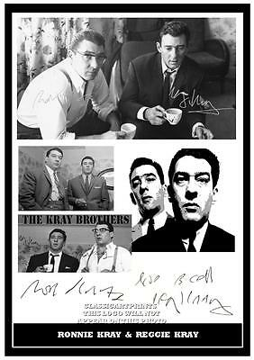 231.  Ronnie & Reggie Kray  The Kray Twins   Signed  Photograph