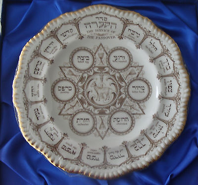 Spode Vintage china Magnificent Passover plate- still in wrapping-boxed Pesach