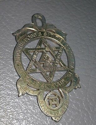 Old Holy Royal Arch breast Jewel, marked silver  (RAM)