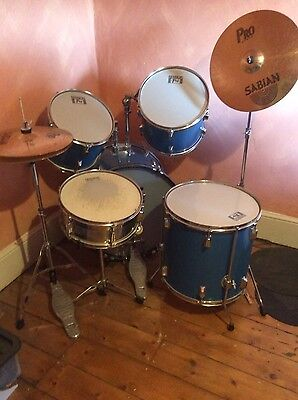 pro session drum kit with pro sabian cymbals