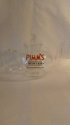 Pimm's Glass Winter Tea Pot And Pot Cover - Very Collectable