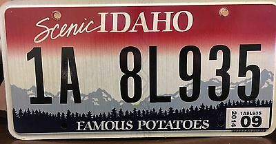 Idaho ID state license plate Scenic Famous Potatoes