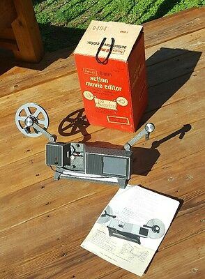 SEARS 8MM action movie editor #9380 includes 1 reel