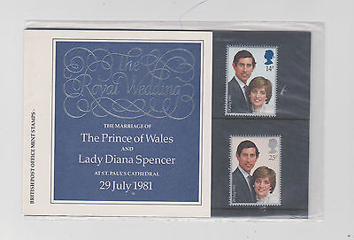 British Post Stamps The Royal Wedding Prince Charles & Princess Diana Di 1981