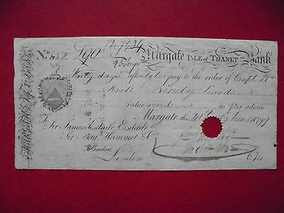 Bill of exchange. Margate Isle of Thanet Bank. Dated 20th June 1799.