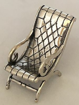 Italy 925 Sterling Silver Miniature Of Garden Chair