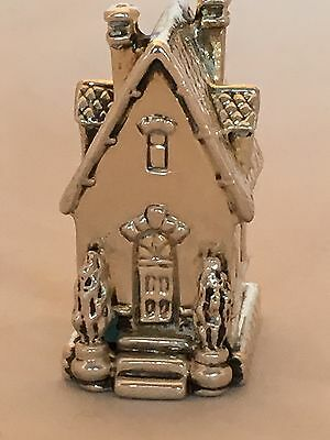 925 Electroplated Sterling Silver Miniature of a House