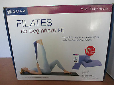 GAIAM~PILATES For Beginners Kit~Band~Seat Riser~Cushion~Neck Cushion~Video~NEW