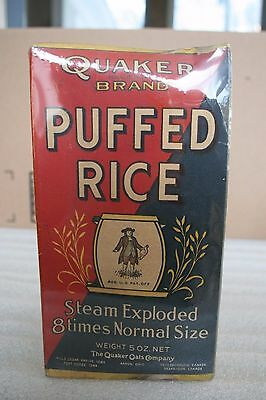 1924 Quaker Puffed Rice Empty Box c.1924