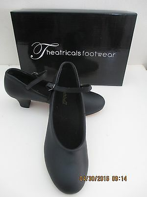 """Dance Shoes Blk 8- 2"""" Heel Nib Leather Sole Theatricals Footwear-Price Cut 4 All"""