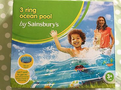 3 Ring Ocean Paddling Pool - 120cm - 3+ Years - complete with box