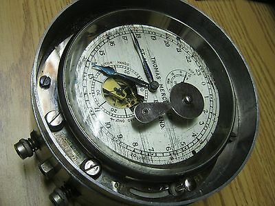 Thomas Mercer Ship's Chronometer 56Hr. With Up/down Indicator: 24 Hour Dial