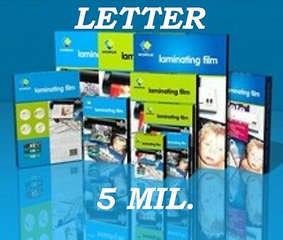 Letter Size100 PK Quality Laminating Pouches 5 mil 9 x 11-1/2 Free Carrier