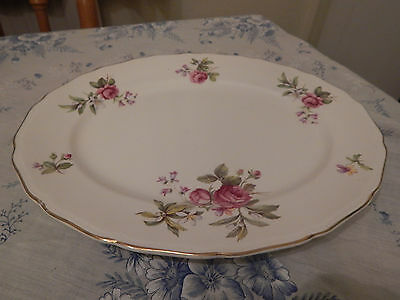 """Vintage Beautiful Ridgway """"Summer Glory"""" Serving Platter in Gold Decoration"""