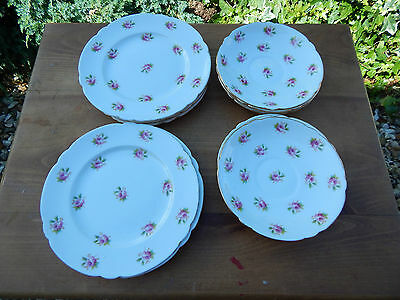 Vintage The Foley China 1892 Wileman & Co. Saucers & Tea Plates Pattern 7447