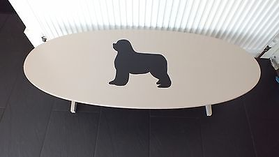 Newfoundland dog coffee table - hand painted