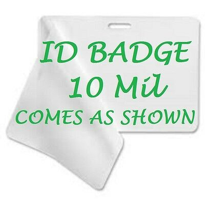ID BADGE CARD Laminating Pouches Sheets 2.56 X 3.75 (50 pc) With Slot 10 Mil