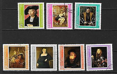 1978 Bulgaria Paintings full set of 7 stamps cancelled to order