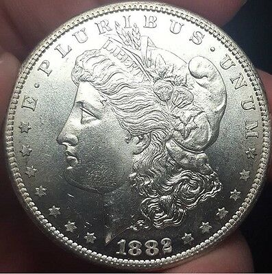 1882 S Morgan Silver Dollar BU/MS