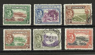 Dominica - KGVI stamps - 1938-50 - used
