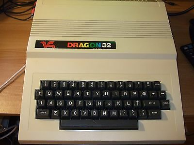 Vintage Dragon 32 Computer Boxed and Tested, No Audio