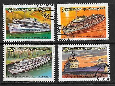 1981 Russia Tourist Ships set of 4 stamps that are cancelled to order
