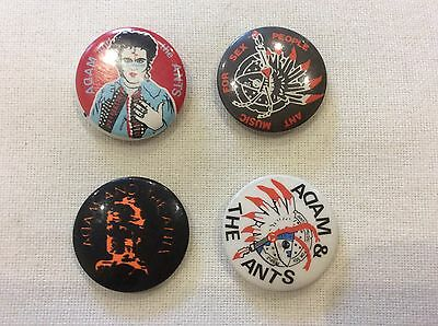 Collection of four vintage Adam Ant button badges - collectible!