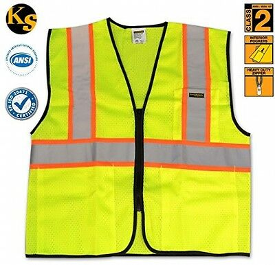 KwikSafety High Visibility Reflective Construction Class 2 Safety Vest | 3 With