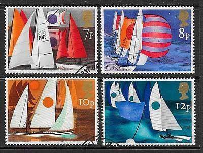 1975 Great Britain Sailing full set of 4 stamps that are used