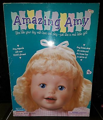 Amazing Amy Interactive Doll by Playmates In Box w/ Accessories 1998 Blonde Hair