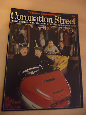 Tv Times Coronation Street Special Television Soap Old Vintage Magazine 1980S