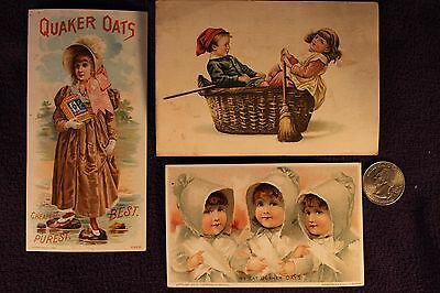 (3) Quaker Oats Trading Cards; The American Cereal Co.