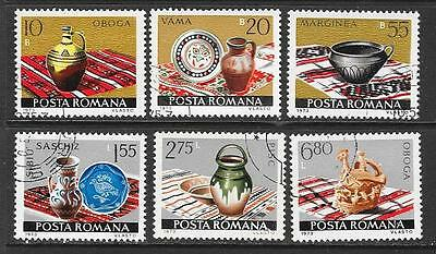 1973 Romania Ceramics full set of 6 stamps that are cancelled to order