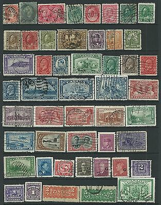 49 Assorted Canadian used stamps to KGVI
