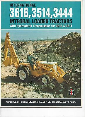 International Harvester 3616,3514,3444 Tractor Dealers Sales Brochure IH 12 Pgs.