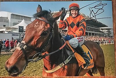 Signed Tom Scudamore & Thistlecrack 12X8 Photograph World Hurdle Cheltenham 2016