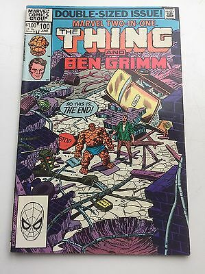 Marvel Two In One The Thing And Ben Grimm # 100 Double Sized Issue VF / NM
