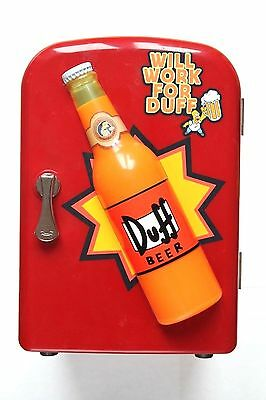 The Simpsons Mini Drink Cooler Fridge LED Duff Beer Wesco HH-930 with box