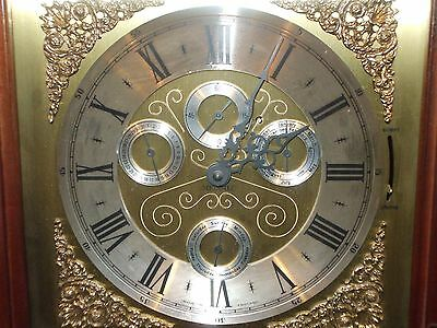 8 Day, Weight Driven Grandfather Clock With Westminster Chimes.