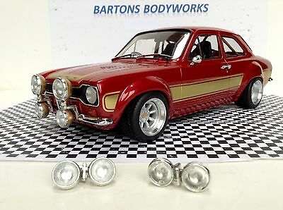 1:18 Greenlight Pair Spotlights Cibies Ford Escort Vw  Rally New MODIFIED TUNING