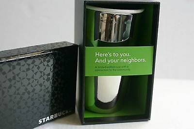 2012 Starbucks Limited Edition Ceramic Tumbler - White Gold Brand NEW in Box !!