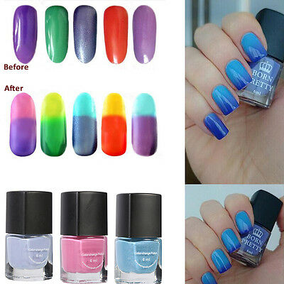Born Pretty Soak Off Temperature Change Color Gel Nail Polish UV Led Lamp Gel