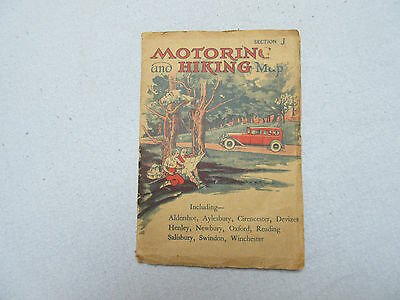 Vintage (1940's/50's?)Motoring and Hiking map  -  section J